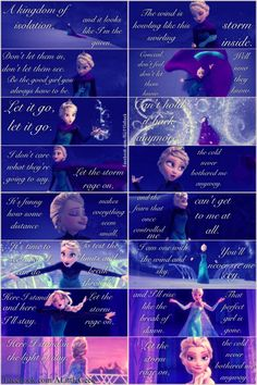 "Parts of ""Let It Go"" from Disney's Frozen! Love this song & scene! <3 #Frozen"