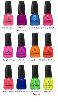 china glaze summer 2012 neon collection