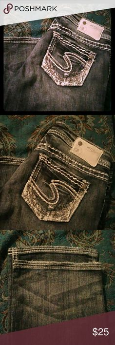 Silver Jeans Size W26 L33.  Aiko Bootcut.  Distressed.  Excellent condition. Silver Jeans Jeans Boot Cut