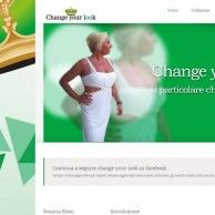 Website created for Change your look - Clothing industry