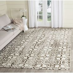 Safavieh Handmade Dip Dye Watercolor Vintage Ivory/ Brown Wool Rug (8' x 10') - Free Shipping Today - Overstock.com - 17558848 - Mobile