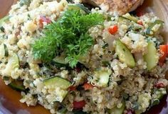 Quinoa, Ab Diet, Fitness Diet, Paella, Fried Rice, My Recipes, Potato Salad, Main Dishes, Grains