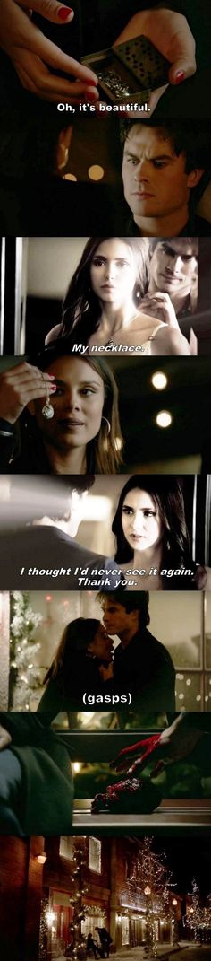 Elena's necklace? No way, bitch. The Vampire Diaries TVD S08E07 - Damon