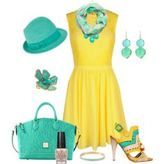 Yellow dress outfit pinterest