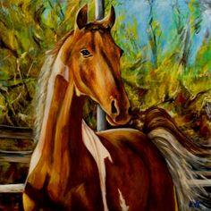 Horses Bulldog & CarouselsOriginal Limited Edition by ArtbyKVK, $20.00