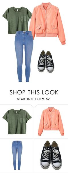 """""""Untitled #478"""" by sikarjazmin on Polyvore featuring WithChic, River Island and Converse"""