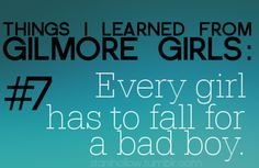 Things I learned from Gilmore Girls Every girls has to fall for a bad boy. (even though her bad boy was perfect) Favorite Tv Shows, Favorite Quotes, Quotes To Live By, Me Quotes, Funny Quotes, Gilmore Girls Quotes, Best Shows Ever, Best Tv, Make Me Happy