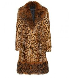 I am thinking leather pants or flapper dress with this Vintage style animal print coat with fox collar and trim. What a beauty. Animal Print Outfits, Animal Print Fashion, Animal Prints, Leopard Prints, Cheetah, Florence Welch Style, Brown Fur Coat, Fox Fur Coat, Cute Fashion