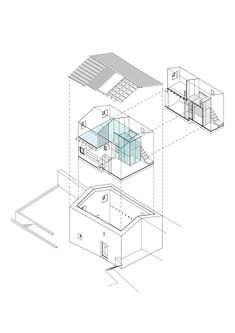 Image 35 of 35 from gallery of Nogueiras House / Sofia Parente + André Delgado. Exploded Axonometric