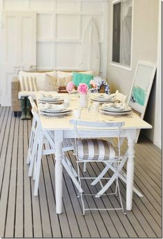 beach cottage table scandinavian