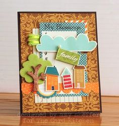 Family Card by Amy Sheffer for the Card Kitchen Kit Club; Card created using Oct. 2013 Card Kitchen Kit