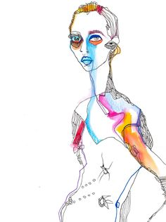 Fashion illustration for Delpozo Bridal Collection