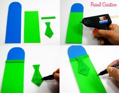 como fazer lembrancinha dia dos pais porta canetas eva escola  (1)