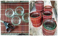 Jannes kreative verden: Spisebrikke og syltetøyglass = lyslykt:)