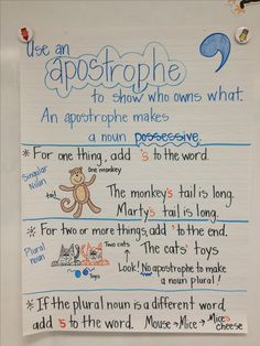possessive nouns anchor chart singular and plural nouns - Yahoo Search Results Yahoo Image Search Results Grammar And Punctuation, Teaching Grammar, Teaching Language Arts, Grammar Lessons, Teaching Writing, Grammar Chart, Singular And Plural Nouns, Possessive Nouns, Possessive Apostrophe
