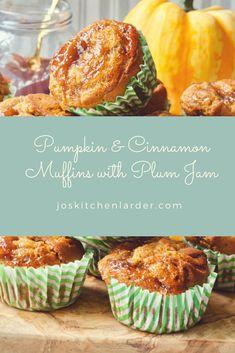 Pumpkin & Cinnamon Muffins with Plum Jam