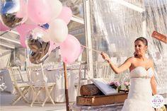 O casamento da Daniela e do Miguel. #casamento #Portugal #noiva #baloes
