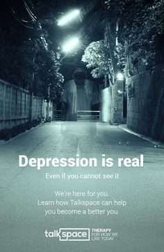 You are not alone. Depression affects 19 million Americans (~10% of the population) Get help now and join 300,000 users who have improved their lives with Talkspace. Plans start for as low as $32/week. Try it today and start chatting with your personal licensed therapist -- anytime, anywhere.