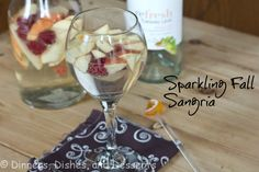 Sparkling Sangria  1 bottle Moscato White Wine  1 20 oz bottle Sprite  3 Apples, sliced or diced  1 pint raspberries    Place the fruit in a pitcher.  Add the wine and sprite.  Stir to combine.  Serve chilled.