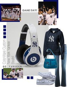 """New York Yankee beats headphones""!!! I think I'd prefer these lol"