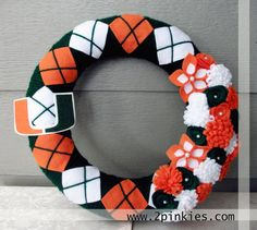 Miami Hurricanes wreath