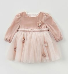 Baby Girl Party Dress-High Quality! Pink Flower Appliques Baby & Little Girl Party Dress  Available from 12 months - 7 years Color: Pink Material: Cotton, Tulle Mesh & Spandex