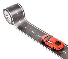 PlayTape® - Fun that Sticks!™Printed to look like a road, PlayTape Classic Road Series is a roll of removable tape that's perfect for playing with die-cast toy and model cars like HotWheels® and Matchbox®. PlayTape is the fastest way to create roads for imaginative play, display, or decoration. Make instant roads, anytime, anywhere!PlayTape has been specifically designed to bring hours of imaginative entertainment at minimal cost and maximal convenience. With a single roll of PlayTape ...