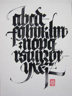 Blackletter alphabet in Typography