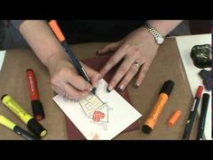#108 How to use Faber-Castell Pitt Brush Markers & Stampendous Stamps by...
