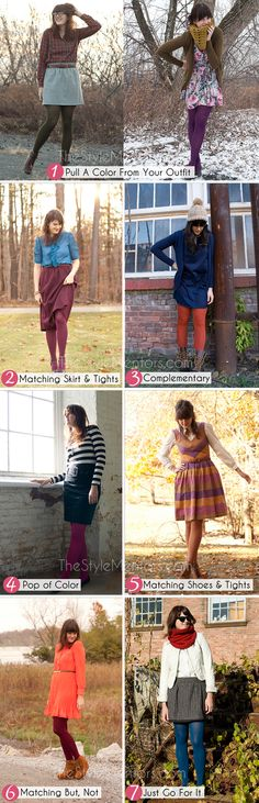 how to wear coloured tights