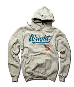 David Wright MLBPA Officially Licensed New York M Youth Hoodie S-XL David Wright Script B