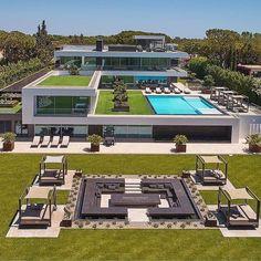 Luxury House Plans, Luxury Homes Dream Houses, Modern House Plans, Modern Bungalow House, Modern Mansion, Dream House Interior, Dream Home Design, Luxury Homes Exterior, Modern Exterior House Designs
