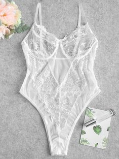 Its quite simple to get an inexpensive, poorly made bra, just like its easy to get any other cheap, improperly made product. If you want something that will not just supply you with the comfort, support and charm your body requirements, however will also assist in lowering the variety of your bra shopping trips. Jolie Lingerie, Teddy Lingerie, White Lingerie, Bodysuit Lingerie, Women Lingerie, Teddy Bodysuit, Lingerie Models, Bustiers, Lingerie Verde