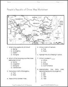 Worksheets Ancient China Worksheets worksheets silk road and on pinterest china free printable map worksheet for grades 4 6 ccss geography
