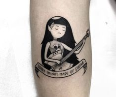 Sweet Tattoos, Dope Tattoos, Mini Tattoos, Body Art Tattoos, Small Tattoos, Tatoos, Tatuagem Adventure Time, Adventure Time Tattoo, Cartoon Tattoos