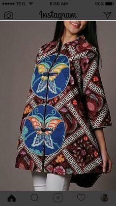Dress batik kupu Blouse Batik, Batik Dress, Unique Fashion, Womens Fashion, Batik Fashion, Kebaya, Dress Collection, Cute Dresses, Ethnic