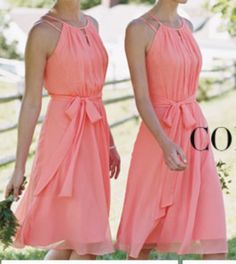 My maid of honors dress @mollie wren Mitchiner love it :) And the coral color is so perfect for my beach wedding