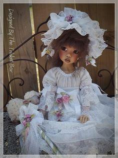 ~~ Vintage Bo-Peep ~~ 8 PC One Of A Kind Dress Set For Kaye Wiggs Msd Bjd - Hope