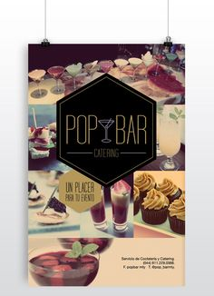 Pop Bar Catering by Isa García, via Behance
