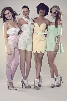 the two dresses on the right, cute style and color