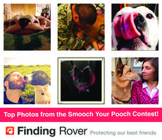 A big thank you to all the peeps and pups who participated in our Smooch Your Pooch contest! Click through and check out your top voted photos.