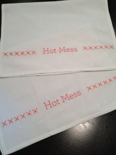 Hot Mess Kitchen Towels - Jamie Godfrey Home Collection. Would be cute for LA with crawfish on them.