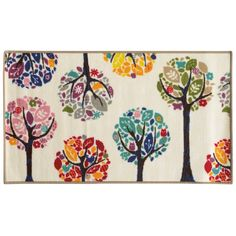 Floral Youth Loop-pile White/ Multi Rug (4'4 x 6'9) - Overstock™ Shopping - Great Deals on Style Haven 3x5 - 4x6 Rugs