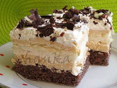 Laskonkové řezy, recepty, rězy | Dorty od mamy Sweet Desserts, Sweet Recipes, My Dessert, Dessert Recipes, How Sweet Eats, Graham Crackers, Pavlova, Yummy Treats, Food And Drink