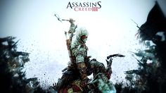 "A great Assassin's Creed III poster! Connor and the Patriots of the Revolution battle the sinister Templars in the ""revolutionary"" video game. Assassin's Creed 3, Assassin's Creed Wallpaper, Wallpaper Backgrounds, Wallpaper Desktop, Game Assassins Creed, Creed Movie, Connor Kenway, Video Game Posters, Fan Art"