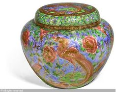 WEDGWOOD - A substantial Fairyland Lustre Argus Pheasant Ghostly Woods covered ginger jar