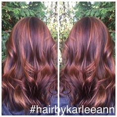 #Balayage #ellemariekarlee #hairbykarleeann #redviolethair #goldbalayage