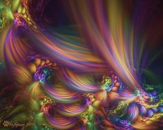 Pastel Fractal | pastel horseshoe swirls by wolfepaw digital art fractal art this is ...
