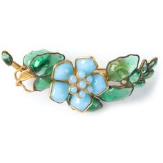 CHANEL VINTAGE floral Gripoix brooch ($546) ❤ liked on Polyvore featuring jewelry, brooches, accessories, chanel, pins, chanel brooch, chanel broach, blue brooch, vintage jewellery and chanel jewelry