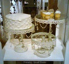 Shabby French Chic Vintage Style ST 3 Cake Dessert Wedding Cake Stands | eBay